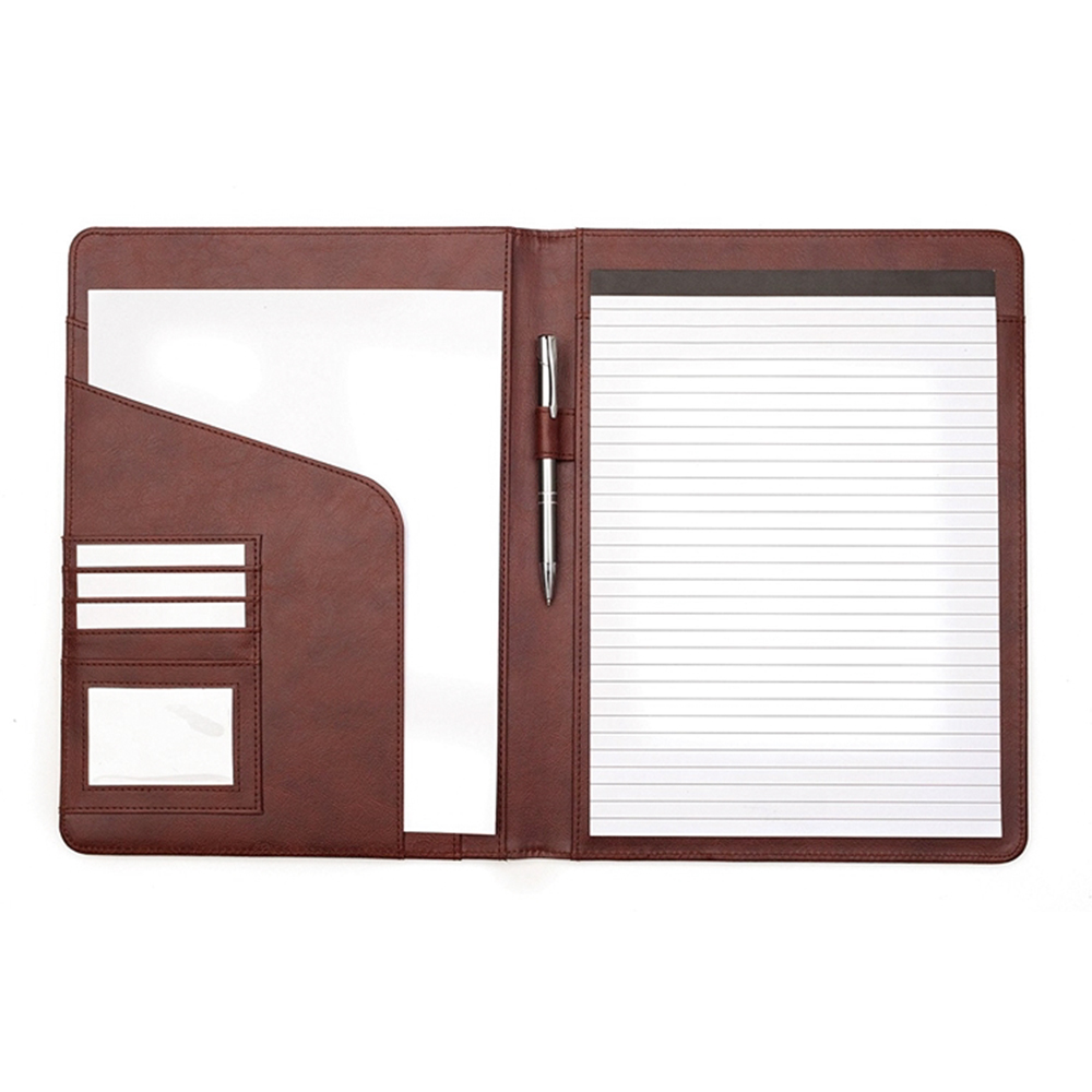 classical genuine leather right handed portfolio with document holder