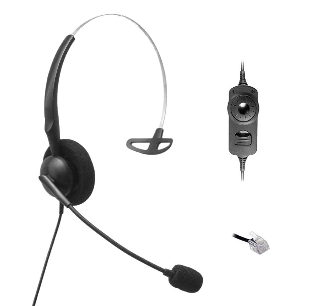 Get Quotations · Comdio CH501VA5 Corded Headset Headphones Ear Phone +  Volume Mute Contorl for Nortel Networks Nt Nothern