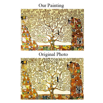 Hot-selling klimt the tree of life by skilled painters