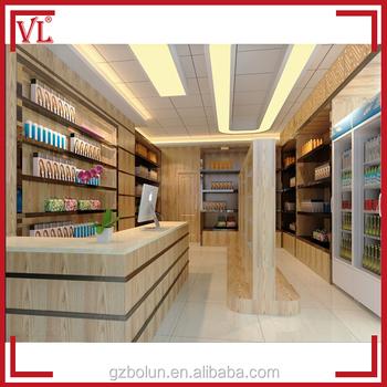 Mdf board materials used interior design for mini market for Mini market interior design ideas