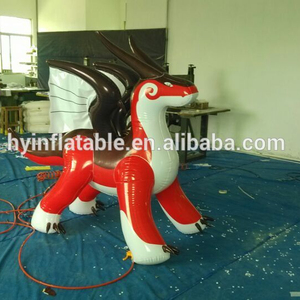 High quality inflatable cartoon dragon inflatable animals dragon red and white dragon for selling