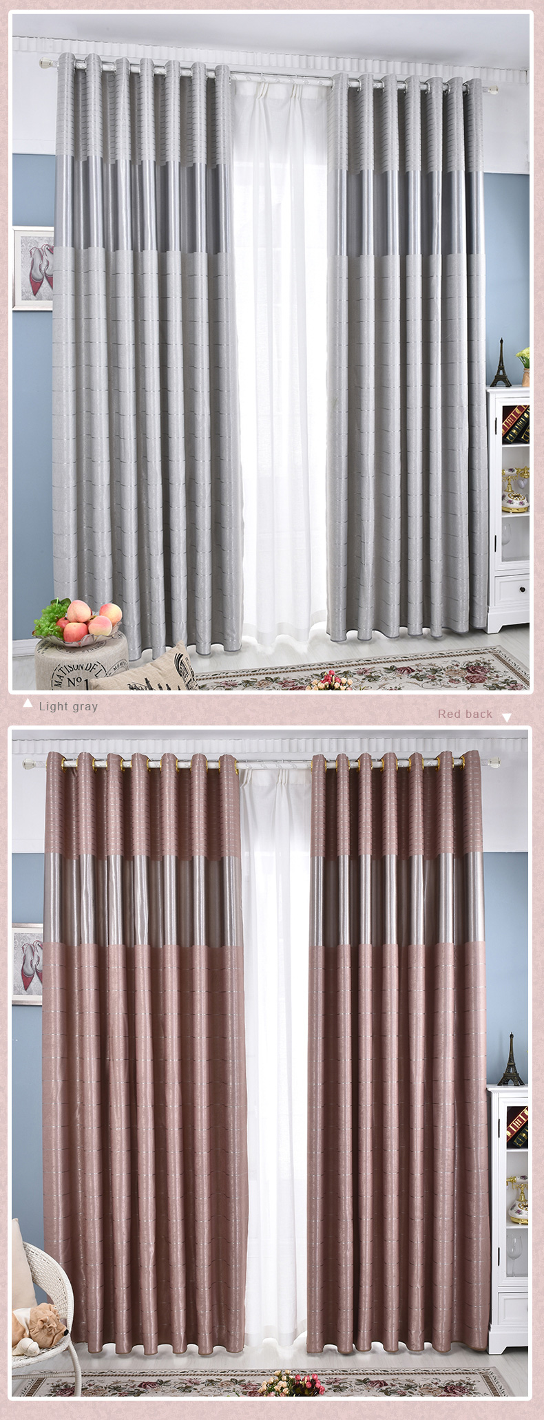 Modern Home Decor Luxury Living Room Blackout Curtains