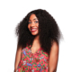 Middle Part 12 Inch Kinky Twist Curly Malaysian Human Hair Full Lace Wig
