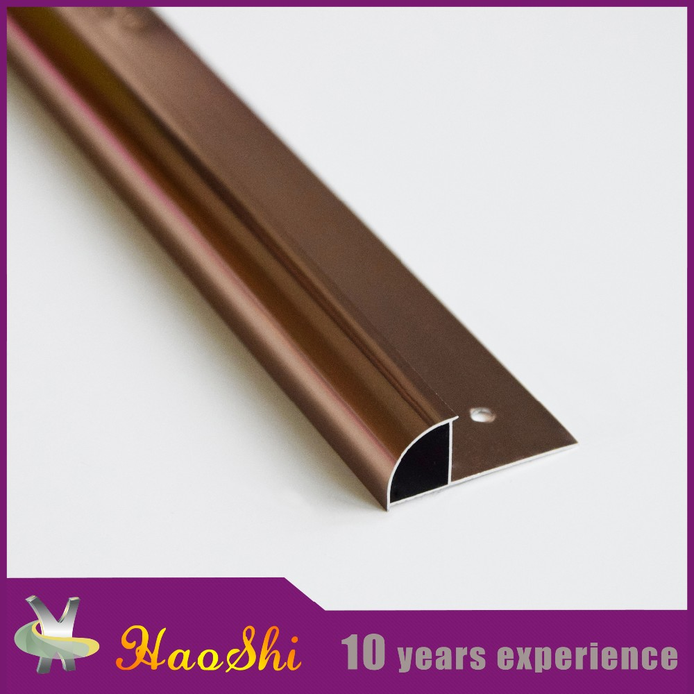 Quarter round metal aluminum floor edging protective tile trim profile