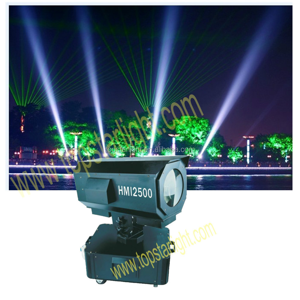 Hot sale for 2017 New Year good quality 2kw-2.5kw outdoor beams search light sky rose light, waterproof searchlight