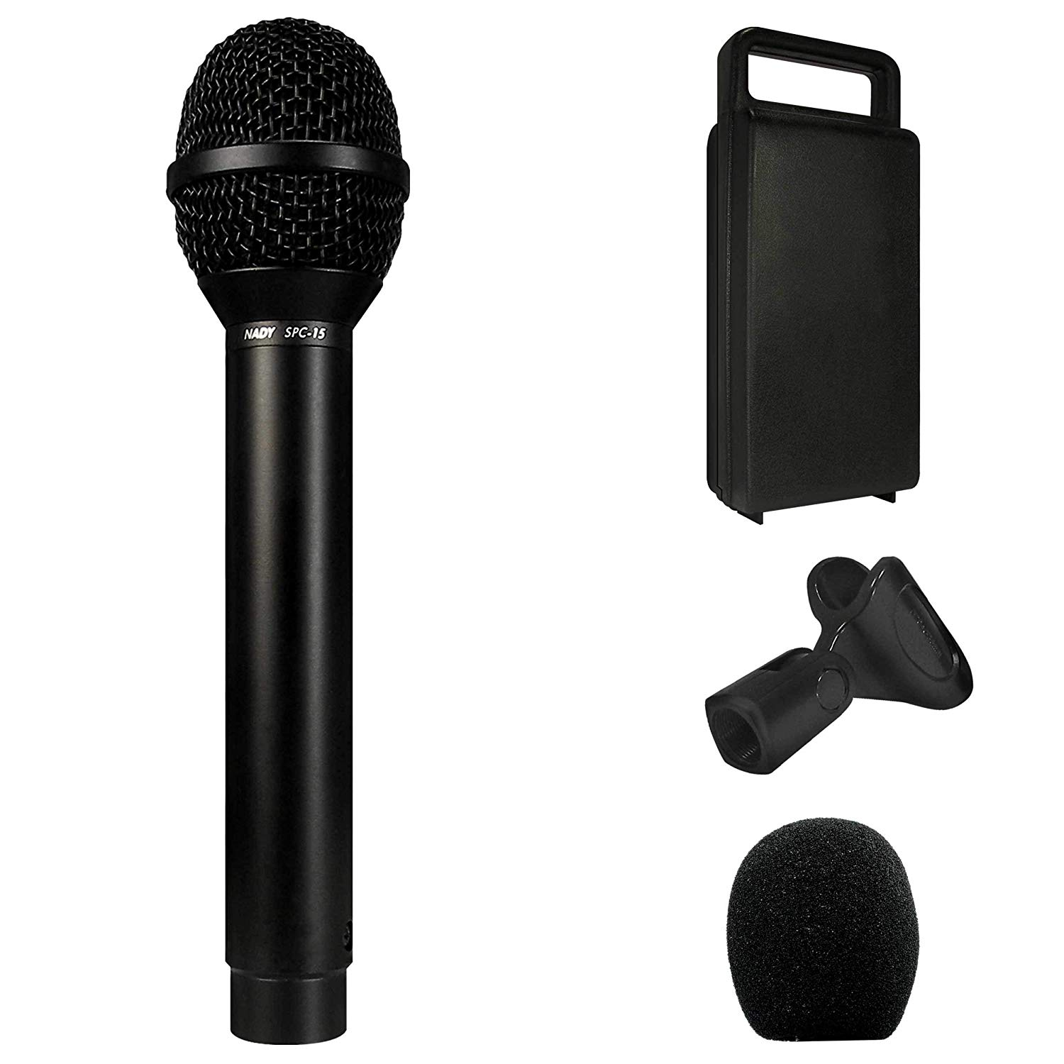 Nady SPC-15 Condenser Microphone - Tailored to enhance vocals, supercardioid polar pattern and wide dynamic range