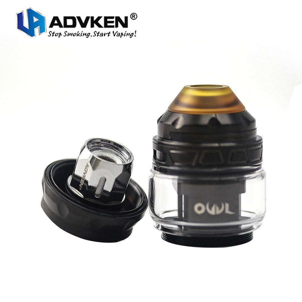 4ml Standard Edition replacement glass tube Advken OWL tank atomizer 25mm diameter advken owl mesh tank for sale
