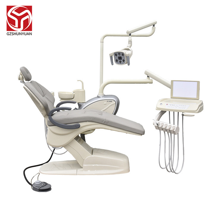 Luxury LED Light Sofa Leather  Up hanging top mounted Dental Chair Unit Dentist Chair New Design Shunyuan medical