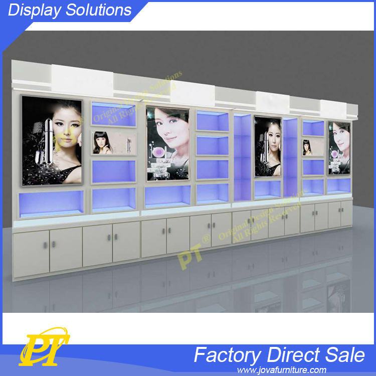 High End Skin Care Products Display Shelving Unit Cosmetic Counter Display