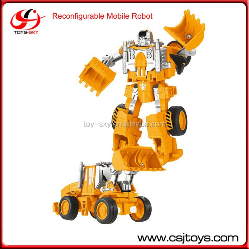 Toys for kids Transmutation Toys Reconfigurable Mobile Robot DIY Toy
