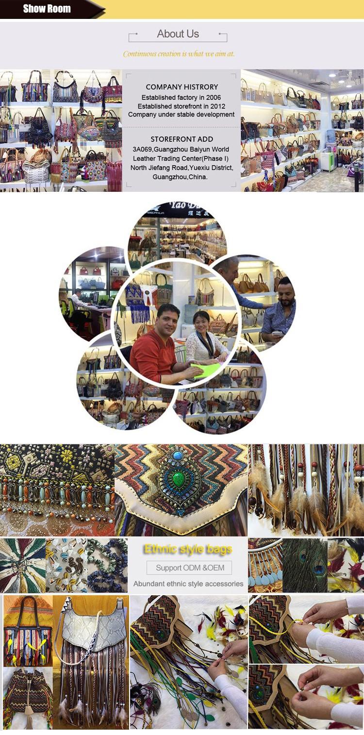 Ethnic Boho Thailand Handmade Hmong Embroidered Shoulder Bag Wayuu ...