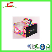 Q1449 Wholesale Custom Printed Portable Paper Bakery Boxes With Window Cake Box Box And Packaging
