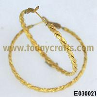 Brass jewelry earring hoop clip on earring findings
