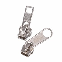 Hign quality silver metal zipper custom design zipper puller zipper slider