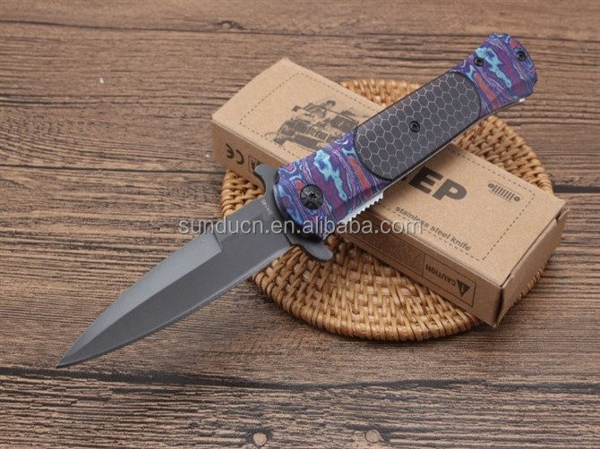 OEM 440C Titanium Folder Camping  Pocket Folding Knife