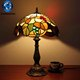 Tiffany lamps for indian decoration new 2018 cordless restaurant table lamp cheap price wholesale stained glass shade lamp