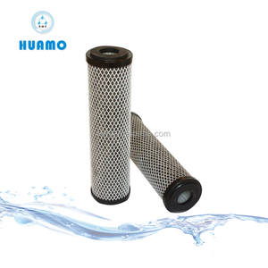 Carbon impregnated cellulose cartridge filters/Removing dissociative chlorine and volatine organic compounds(VOC) in solution