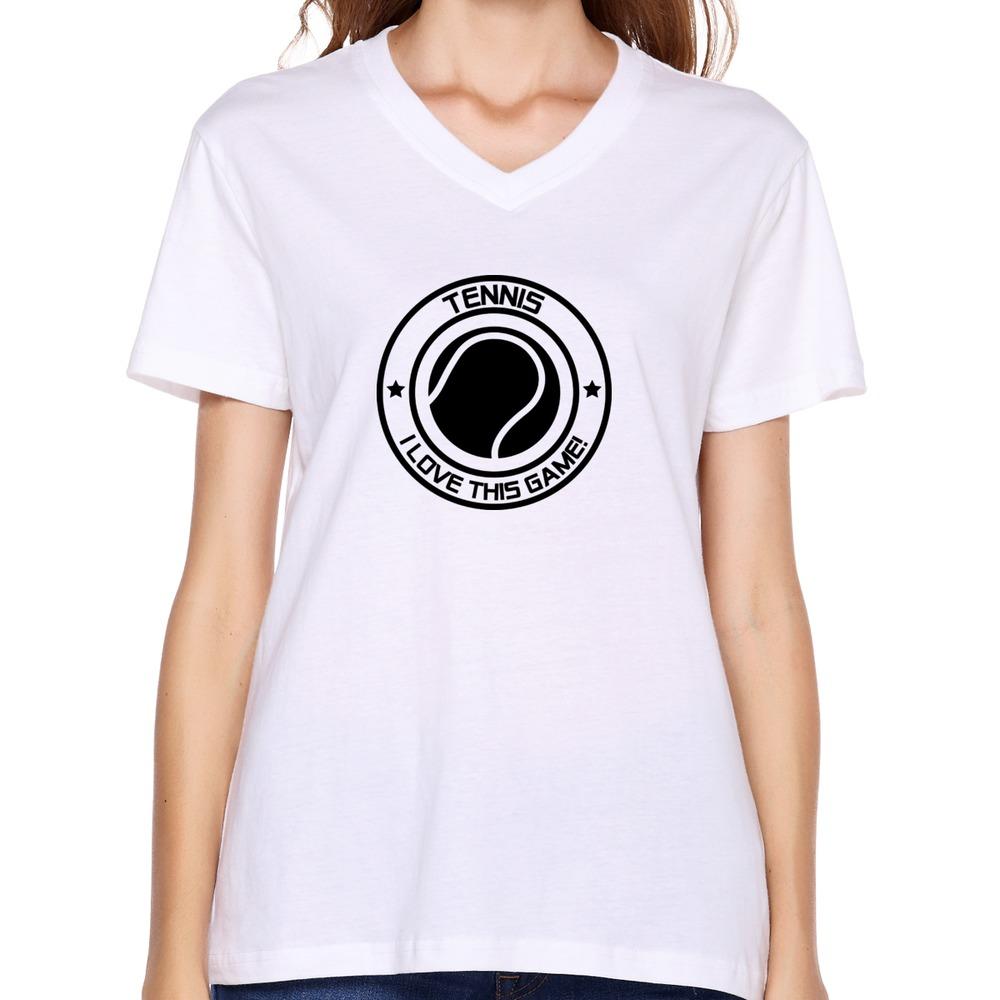 b275129b288c8 Get Quotations · discount Cool fashionable women tee-shirt sport i love  this game tennis t shirt sport