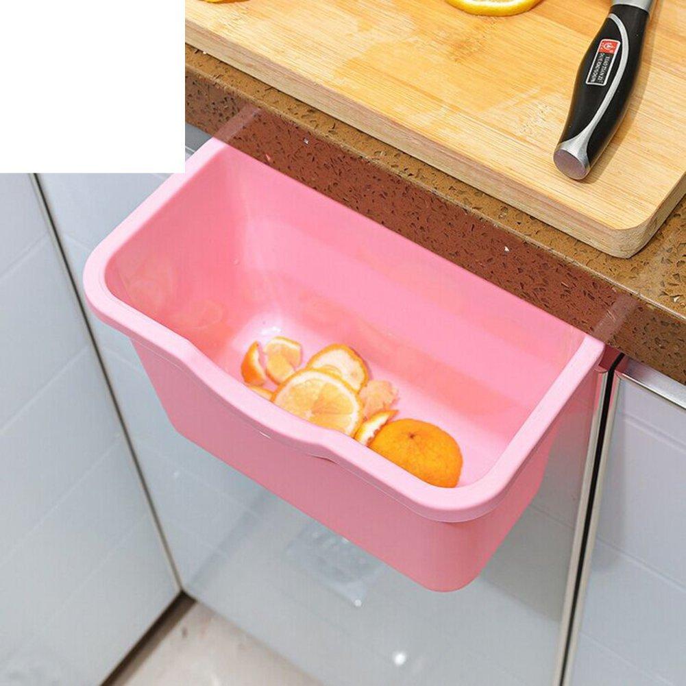 Creative multifunctional storage box kitchen waste/Cabinet doors hanging debris pail/ desktop trash-A