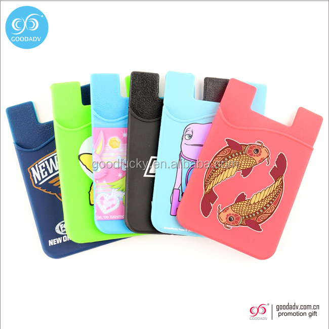 wholesale fashion jewelry Cell wallet phone case silicone card holder for pocket