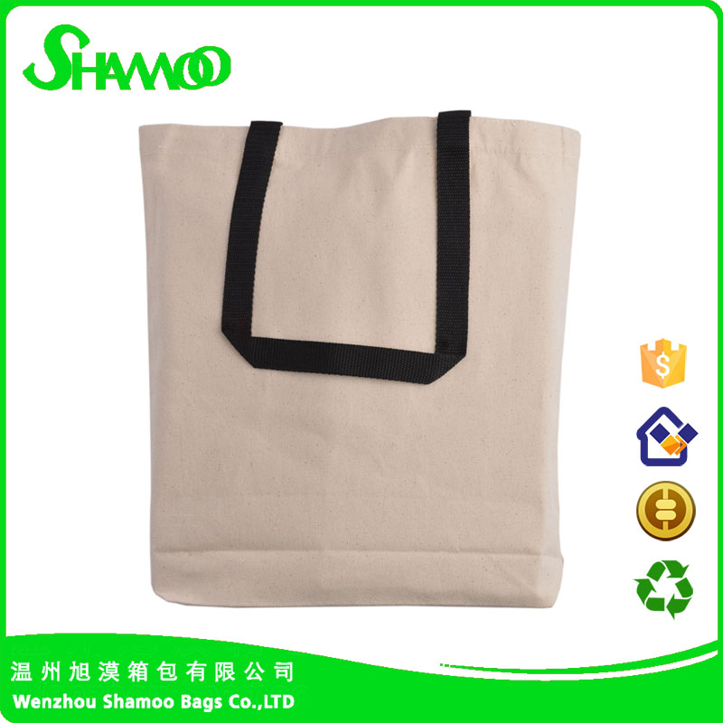 Durable Canvas Tote Bag full side and Bottom Border