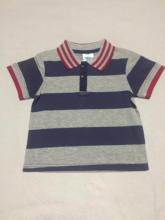 Wide stripe polo cool boy T-shirt