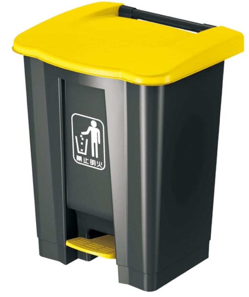 rectangular plastic foot pedal trash can dustbin and toilet brush holder with CE ISO9001 in shanghai
