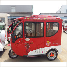 800W 60V closed body battery powered electric tricycle/tuk tuk for sale