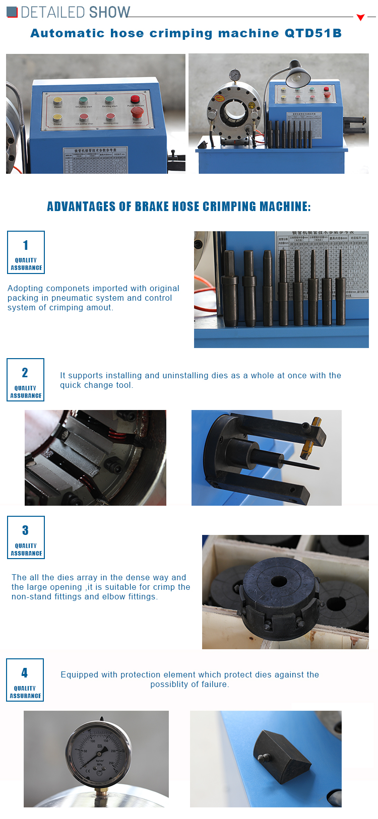 1sn High Pressure Oil 10 Sets Dies 10mm Hydraulic Hose Crimping Machine
