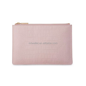 guangzhou factory supplier wholesale pink clutch bag/custom clutch bag/crocodile grain clutch bag