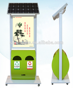 High Quality:Outdoor Solar power led advertising board with Trash Can.