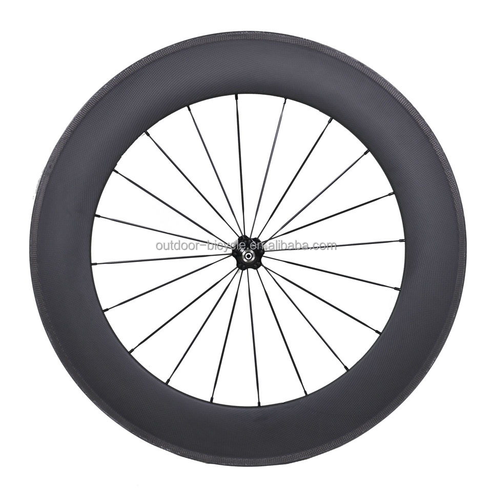 21mm Rim Width 700C 88mm Clincher Carbon Track Bicycle Wheelset Fixed Gear Single Speed Bike Wheels