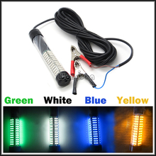 12V Green Night Boat Attract Squid Fish 180 LED Underwater Fishing Light