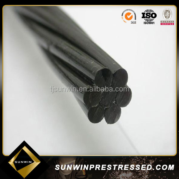 Asnzs 4672.1 12.7mm 7 Wire Steel Strand Construction Material