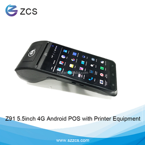 ZCS Z91 Handheld Android Mobile Pos with Printer rfid pos terminal