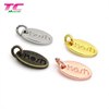 2019 Top-Pick Oval Shape Custom Logo Engraved Metal Jewelry Tag Charms Stamped Jewelry Metal Charms