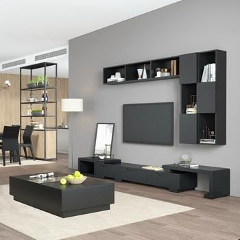 Tv Kast Muur.Moderne Icd Stand Tv Kast Luxe Massief Houten Icd Muur Kast