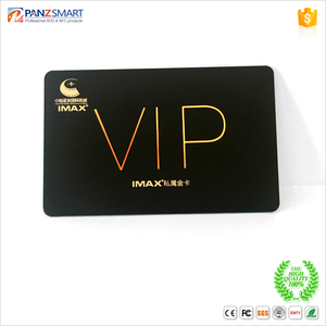 Great quality hot stamping gold/sliver pvc VIP card with competitive price