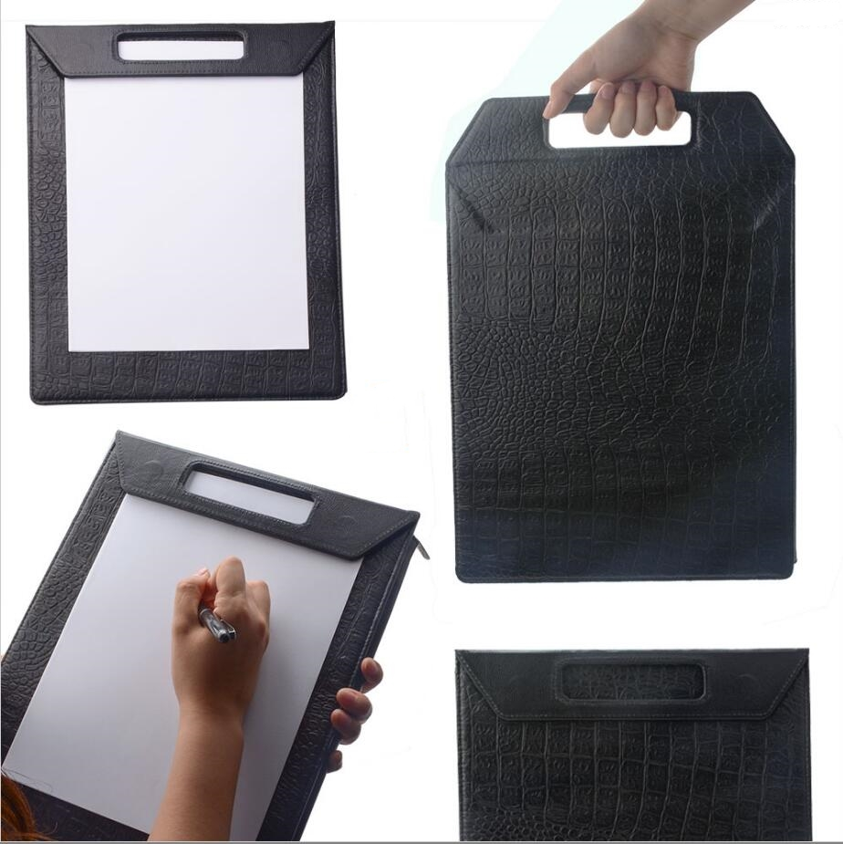 2018 hot hand folder design office leather writing pad