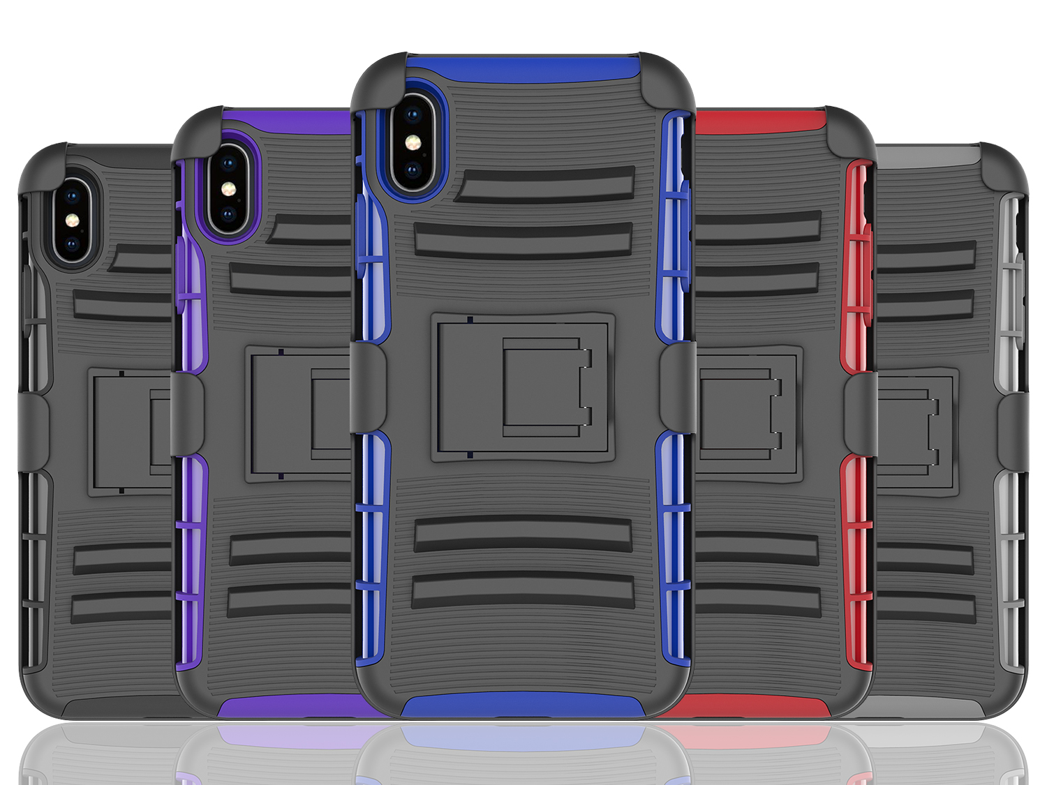 For iPhone XS Plus Holster Case, 3 in 1 Armor Combo Cover Kickstand Phone Case with Belt Clip for iPhone XS Plus