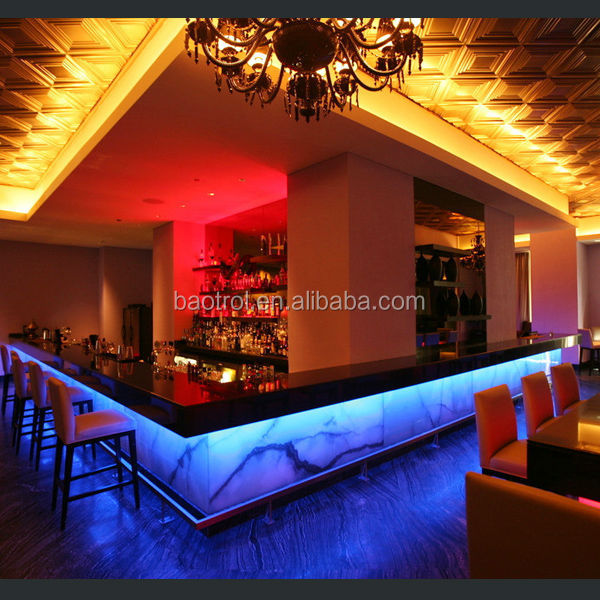 Popular Commercial Bar Counter Design Nigh Club Bar Counter Pole