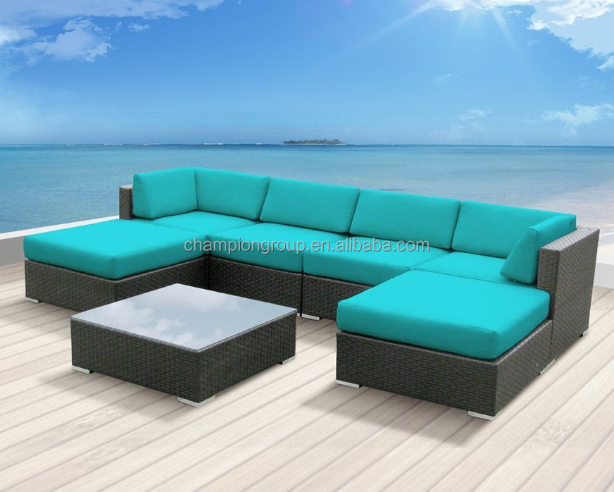 Luxxella Patio Mallina Outdoor Wicker Furniture 7-piece All Weather Couch  Sofa Set,Turquoise - Buy 7pc Outdoor Wicker Sofa,Patio Mallina  Couch,Outdoor