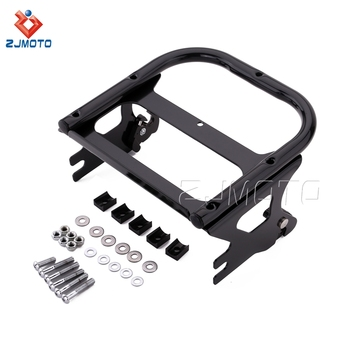 ZJMOTO Black Metal Motorcycle Luggage Rack for Road King FLHR Electra Glide Standard 1997-2001