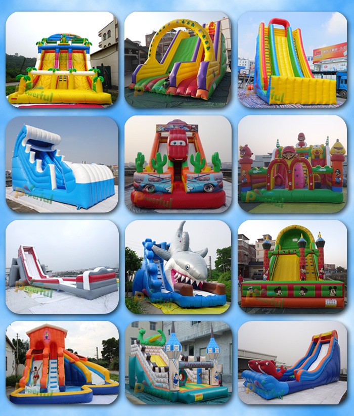 inflatable dry slide for kids