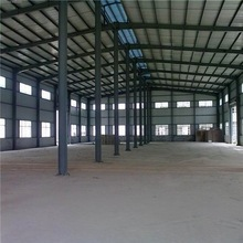 Wide span light steel structure factory building with crane