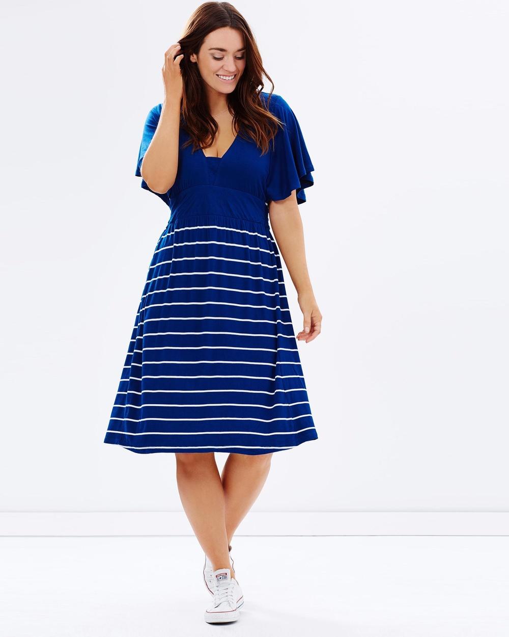 Basic Butterfly Sleeve Xxl Size Women Casual Dress Wholesale Plus ...
