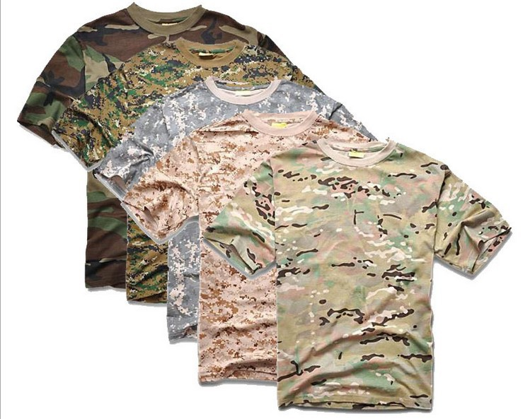 0ec52c9c0ec8 Buy Men Summer Short Sleeve Cotton Military Tactical Camouflage T Shirt ACU  Desert Digital CP Outdoor Sports T-shirts Camo Clothing in Cheap Price on  ...