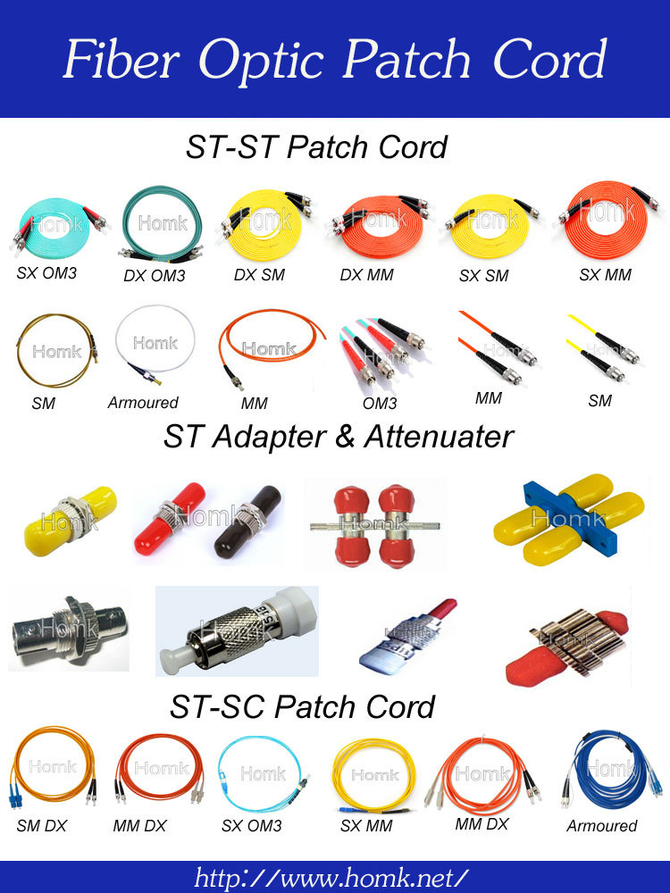 LC SC FC MU MTP MPO MTRJ E2000 OS1 OS2 om3 om4 fiber optic patch cord ,fiber optical pigtail cables