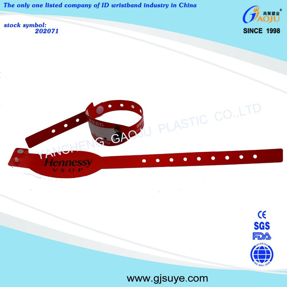 GJ-8050-1 Hot selling custom cheap plastic wrist bands