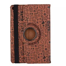 New Little Witch Cute Pattern Rotating Flip Leather Stand Universal Tablet Case Cover For iPad Mini 4
